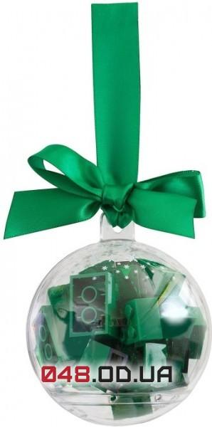 LEGO новогодний шар на елочку с зелеными кубиками (853346)