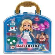 Игровой набор Дисней мини куколка аниматор Алиса в чемоданчике с аксессуарами