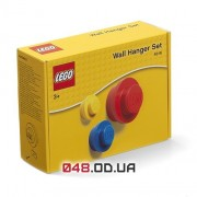 LEGO Настенная вешалка, 3 шт. - желтый, синий, красный