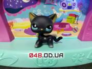 Фигурка Littlest pet shop кошка-стоячка черная с бирюзовыми глазами