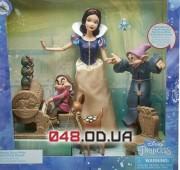 Игровой набор Дисней кукла Белоснежка с гномами