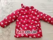 Курточка Zara(Зара) красная осень синтепон на 2-3 года
