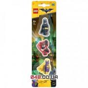 Набор ластиков Lego Batman Movie Batman/Batgirl/Harley Quinn 3 штуки