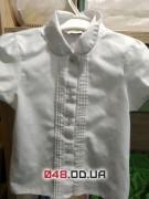 Белая блузка с коротким рукавом George 4-5 лет