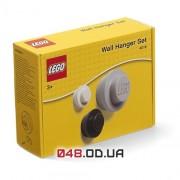 LEGO Настенная вешалка, 3 шт. - черный, белый, серый