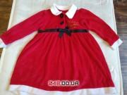 Новогоднее красное платье Помощница Санты George для девочки 18-24 мес
