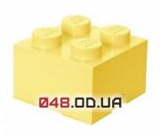 LEGO Четырехточечный контейнер для конструктора, светло желтый
