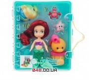 Игровой набор Дисней кукла мини аниматор Ариель с аксессуарами в чемоданчике