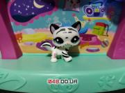 Фигурка Littlest pet shop кошка-стоячка тигровая белая с черными полосками