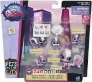 Игровой набор littlest pet shop Большая удивительная семейка скунсов