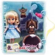 Игровой набор Дисней кукла мини аниматор Золушка с аксессуарами в чемоданчике