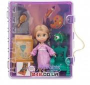 Игровой набор Дисней кукла мини аниматор Рапунцель с аксессуарами в чемоданчике