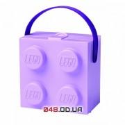 LEGO Ланч-бокс квадратный фиолетовый с ручкой
