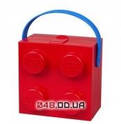 LEGO Ланч-бокс квадратный красный с ручкой