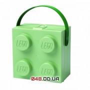 LEGO Ланч-бокс квадратный салатовый с ручкой