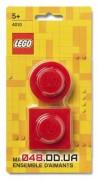Магниты LEGO Iconic, набор из 2 шт красного цвета