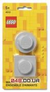 Магниты LEGO Iconic, набор из 2 шт. серого цвета