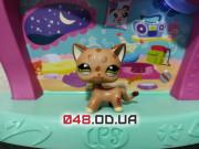 Фигурка Littlest pet shop Кошка стоячка леопардовая с оранжевыми пятнами