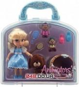 Игровой набор Дисней кукла мини аниматор Золушка с аксессуарами в чемоданчике (1-й выпуск)