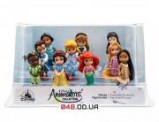 Игровой набор Дисней фигурки мини аниматоры принцессы, 10 шт (2017 г.)
