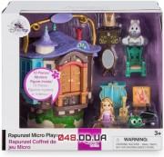 Игровой домик-башня Дисней с фигурками: микро аниматор малышка Рапунцель и аксессуары