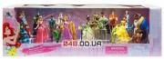 Большой игровой набор фигурок Дисней принцессы Арора, Рапунцель,Тиана, Бель с принцами и др.песронажи