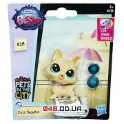 Фигурка Littlest Pet Shop Корги Регальтон с мисочкой B4788