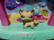 Фигурка Littlest pet shop кошка-стоячка бежевая с коричневым чубчиком и хвостом