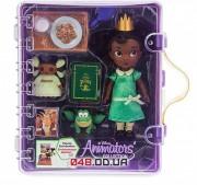 Игровой набор Дисней кукла мини аниматор Тиана с аксессуарами в чемоданчике