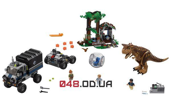 LEGO Jurassic World Побег в гиросфере от карнотавра (75929)