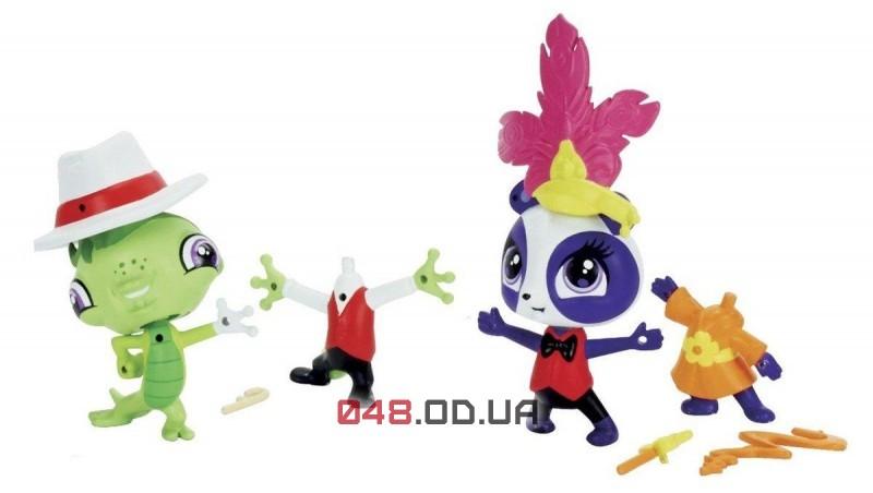 Игровой набор Littlest pet shop панда Пенни и  гекон Винни