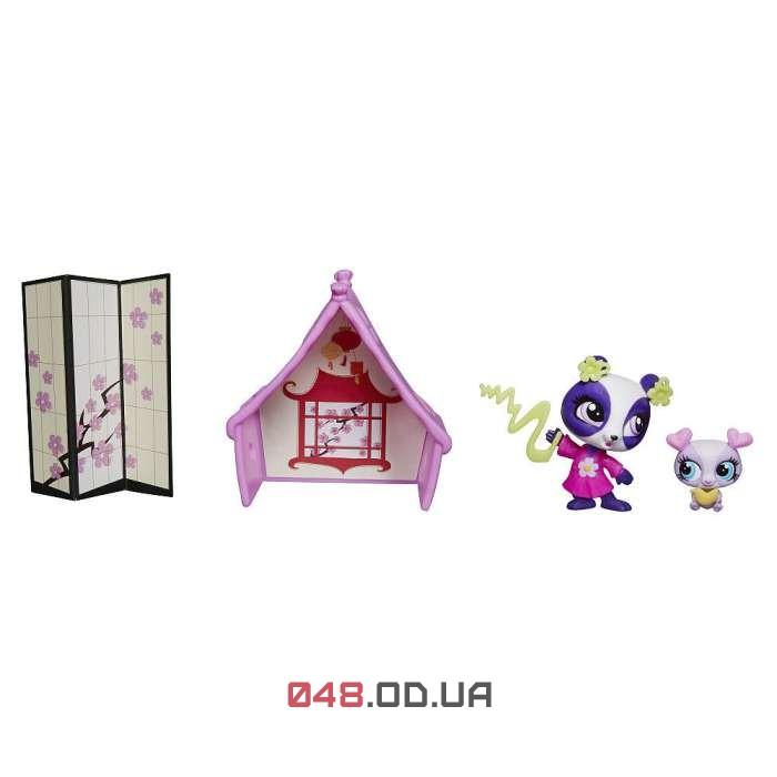Игровой набор Littlest pet shop Шанхайский домик панды Пенни Линг A8551
