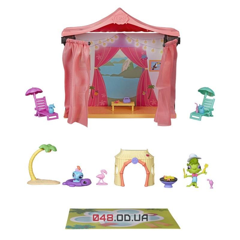 Игровой набор Littlest pet shop Hasbro Отдых в Рио в набор геккон Винни Террио