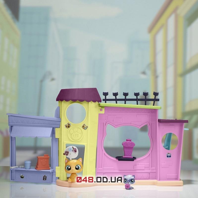 Игровой набор littlest pet shop Кафе с оранжевой кошечкой (B5479)