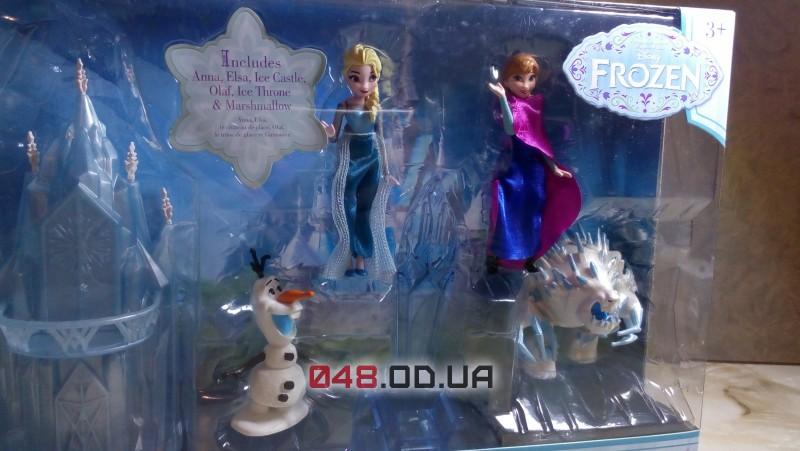 Игровой набор мини замок Disney Анна и Эльза + персонажи (Frozen, Холодное сердце)