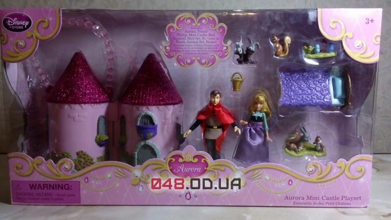 Игровой набор Дисней мини замок-сумочка принцесса Аврора + аксессуары