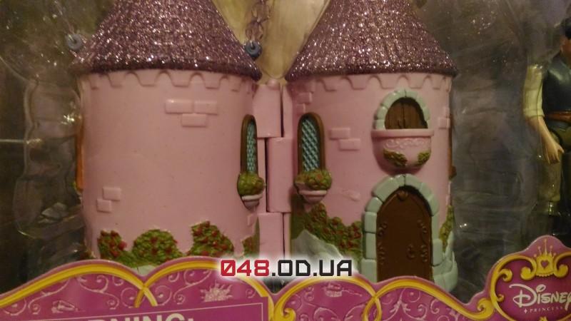 Игровой набор мини замок Дисней принцесса Рапунцель и Флинн Райдер + аксессуары