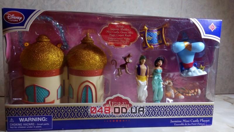 Игровой набор мини замок-сумочка Дисней принцесса Жасмин и Алладин + персонажи