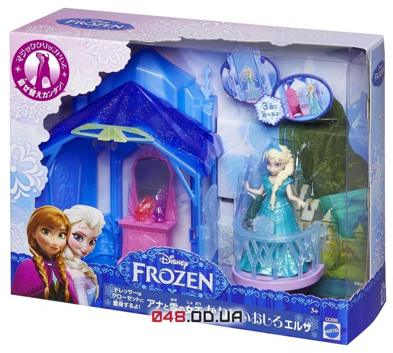 Игровой набор мини замок-комната принцесса Эльза Mattel с мебелью и аксессуарами