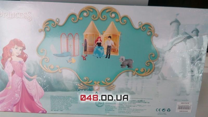 Игровой набор замок-сумочка принцесса дисней русалочки Ариэль + аксессуары и одежда