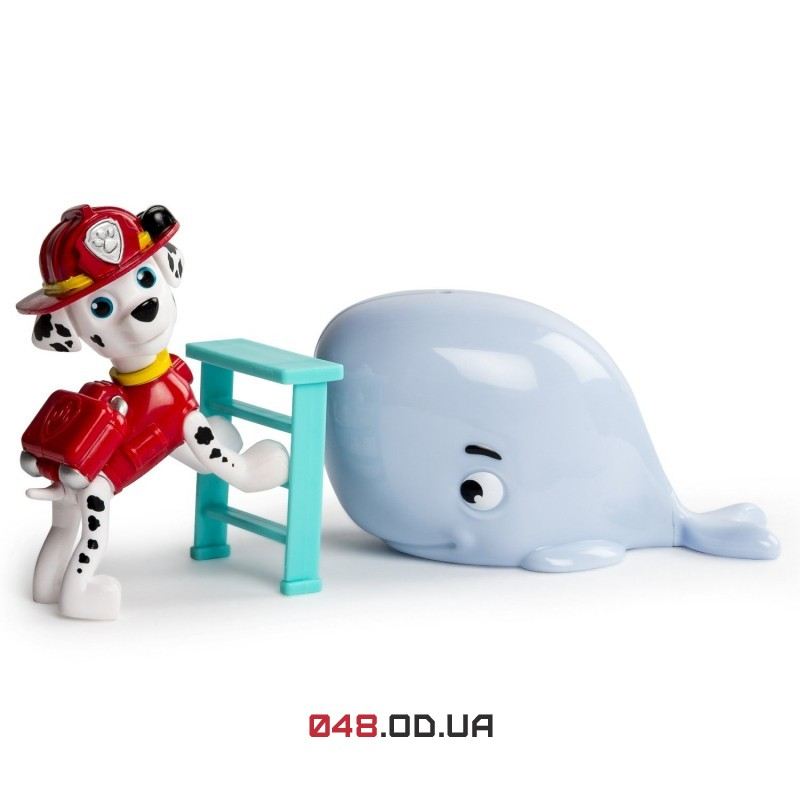 Игровой набор щенок Маршалл и кит Spin master (Paw Patrol Marshall and Baby Whale Rescue Set), миссия