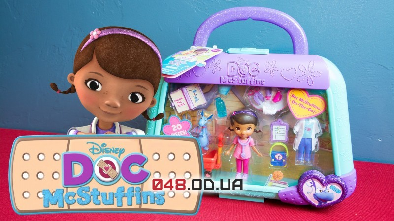 Игровой набор в чемоданчике мини кукла Доктор Плюшева + аксессуары