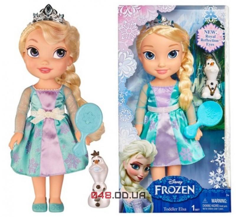 Кукла Дисней Эльза в детстве Jakks Pasific Холодное сердце (Frozen Toddler Elsa Doll with Reflection Eyes) с олафом, 35 см 31070