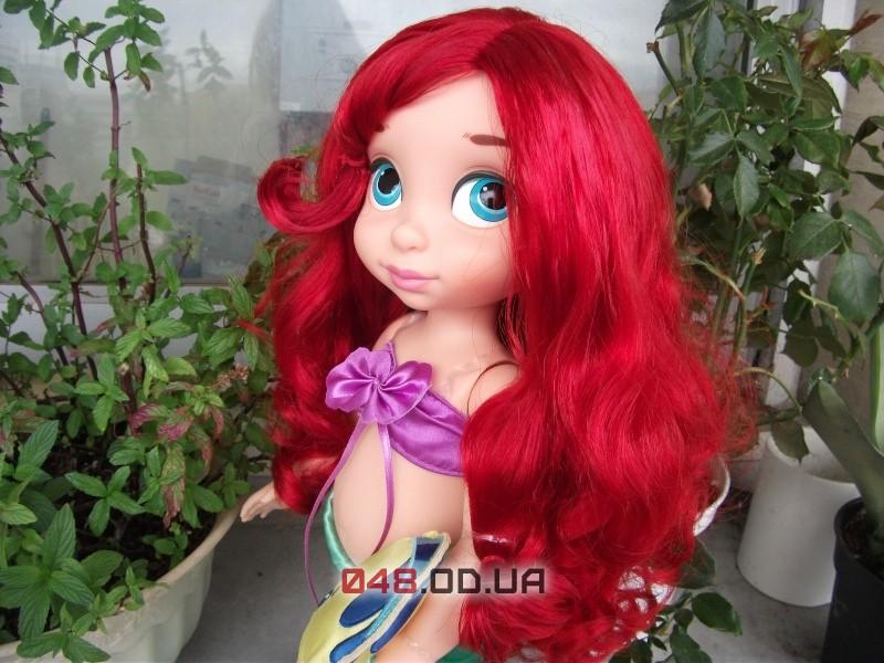 Кукла-аниматор Дисней принцесса русалочка Ариэль с питомцем (рыбка Флаундер), 40 см