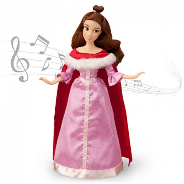 Кукла Дисней поющая Белль, в наборе платье и персонаж мультфильма (выпуск 2013 г.)