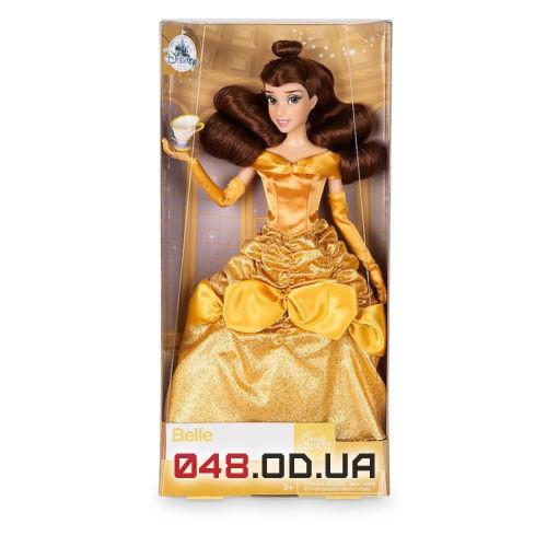 Кукла классическая Дисней Бель с чашечкой Чип, 30 см. шарнирная