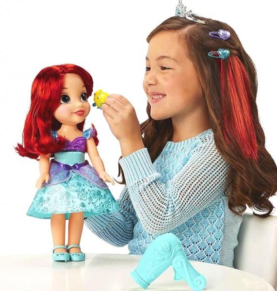 Кукла принцесса Дисней Ариель с феном, 35 см.