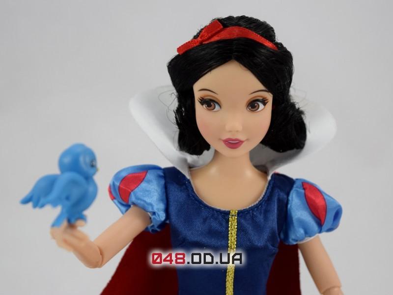 Кукла принцесса дисней Белоснежка с питомцем (голубая птичка), 30 см