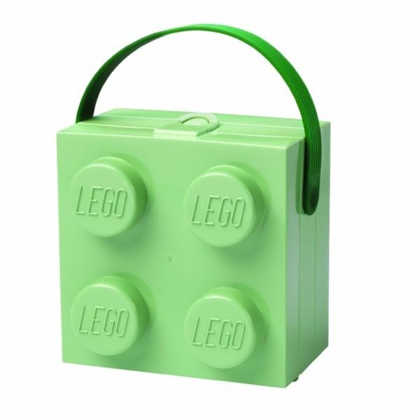 LEGO Ланч-бокс квадратный синий с ручкой