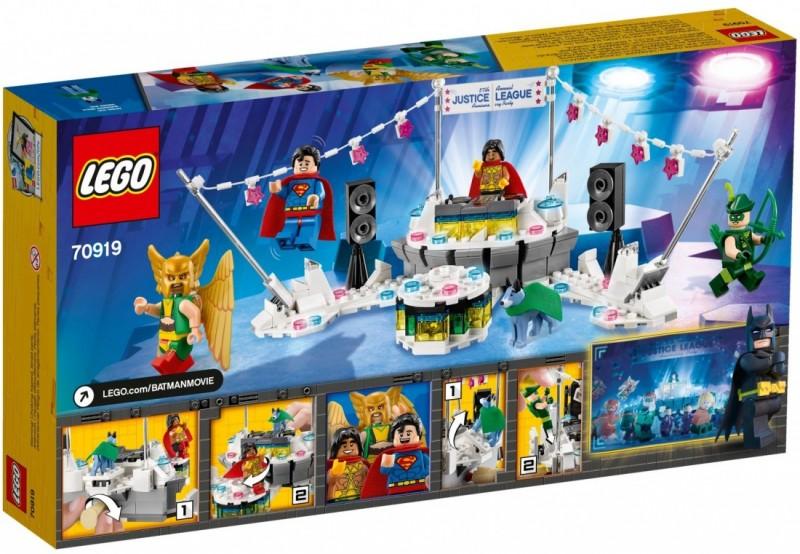 THE LEGO BATMAN MOVIE Вечеринка Лиги Справедливости (70919)